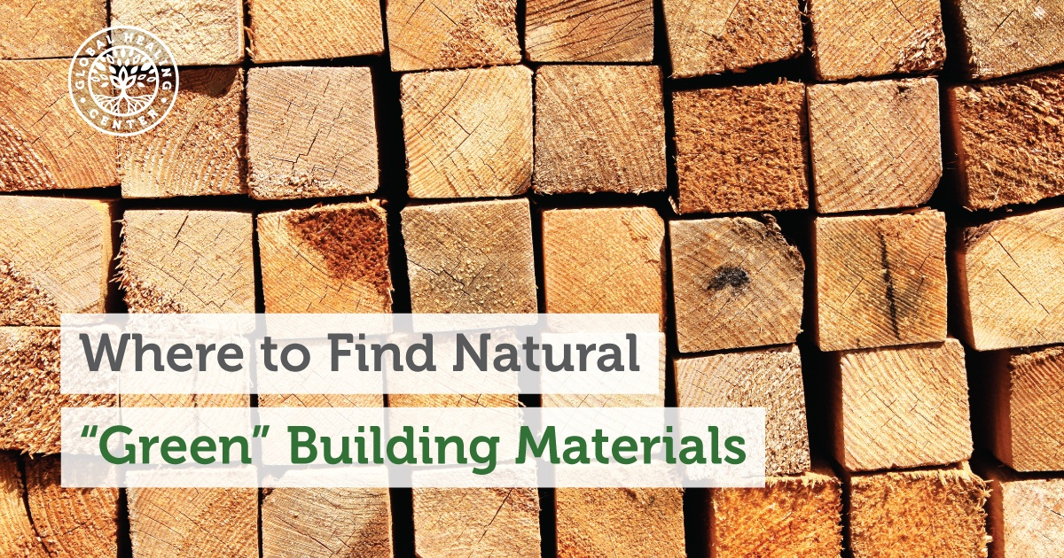 Natural Building Materials : Where to find natural quot green building materials