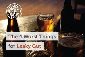 Alcohol can cause leaky gut and other health issues.