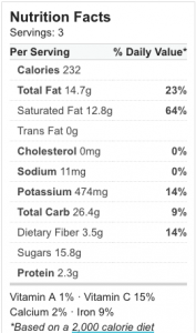 Unicorn Frappe Nutrition Facts