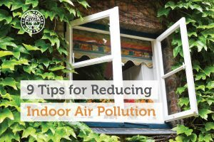 An open window creates circulation that can help reduce indoor air pollution.