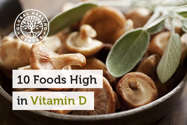 A bowl of organic mushrooms. You can receive vitamin D from various foods or just the sun.