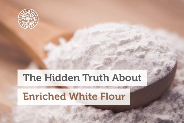 A spoon full of white flour is nothing more than refined carbohydrates that can lead to obesity.