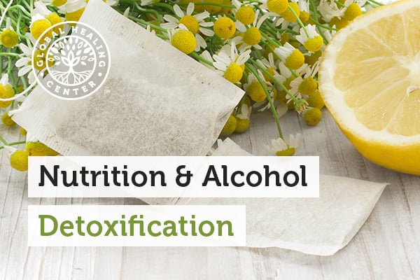Lemon and chamomile are great foods for alcohol detoxification.