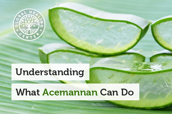 Acemannan Is a polysaccharide found in aloe vera leaves.