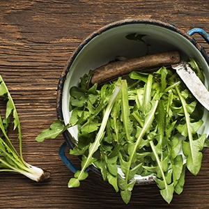 Organic dandelion leaf is loaded with antioxidants that support heart health.