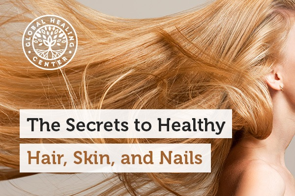A woman with healthy hair. Diet and lifestyle play a big role in how hair, skin, and nails look and feel.