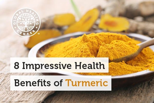 A bowl of organic turmeric. Turmeric provides an abundance of antioxidants capable of supporting cellular health.