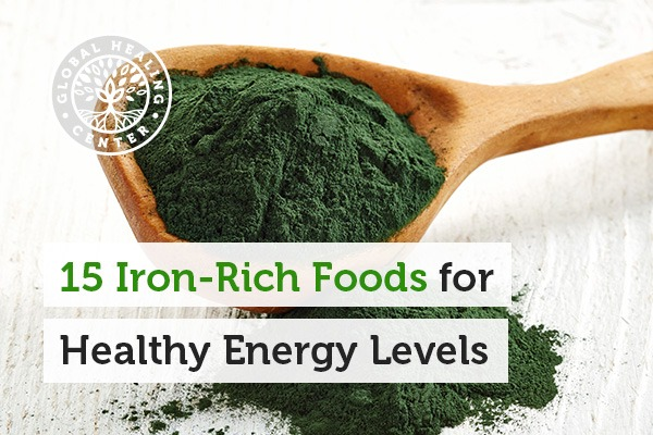 A bowl of organic spirulina. You can avoid iron deficiency by consuming Iron rich foods such as spinach and pumpkin seeds.