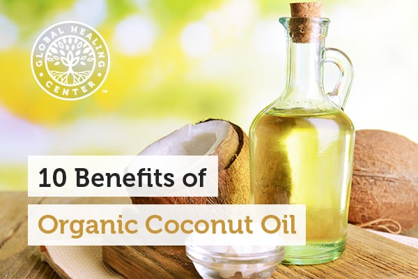 A bottle of organic coconut oil has many health benefits.
