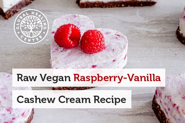 This sweet treat was made using our raspberry vanilla cashew cream recipe, which is excellent for your health on top of being scrumptious.