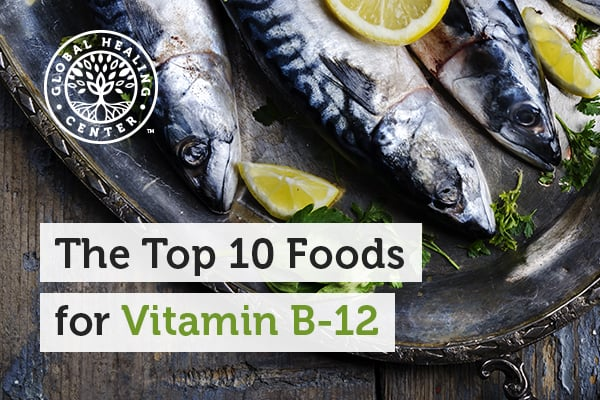 Fish on a place with a slice of an organic lemon. Vitamin B-12 is not produced by plants, animals, or even fungi.