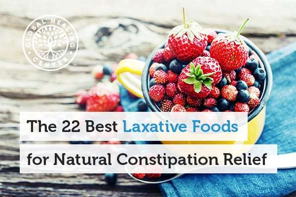 Foods like bananas and berries are great laxative foods for natural constipation relief.