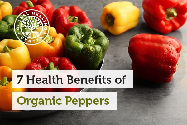 Organic peppers can help with redness and swelling.