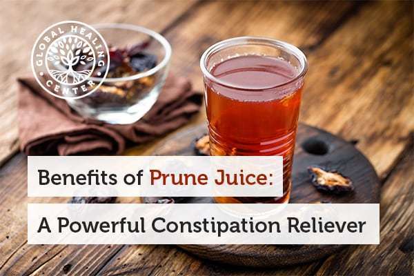 Constipation relief is one of many benefits of prune juice.