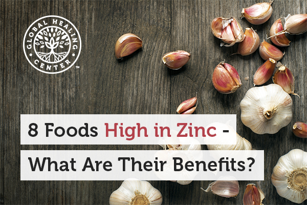 Garlic is one of many foods that are high in zinc.