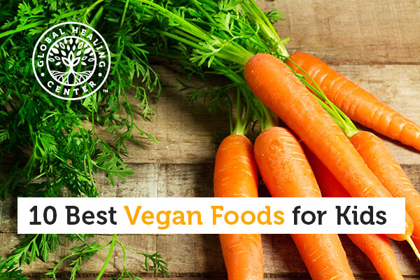 A carrot is one of the best vegan foods for kids.
