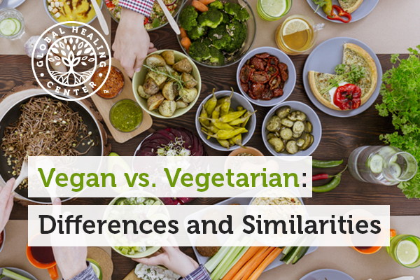 Understand the similarities and differences between vegan and vegetarian.