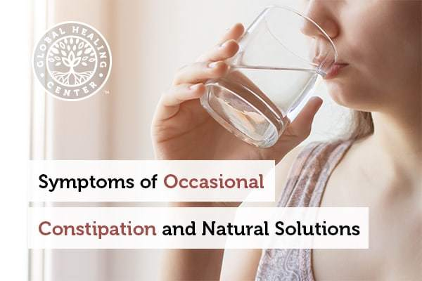 Drinking water may ease the symptoms of constipation.