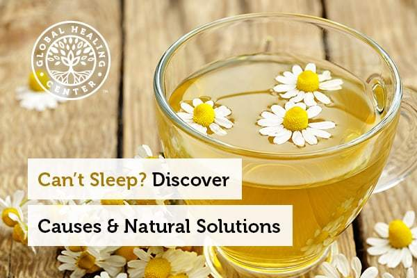 If you can't sleep, herbal teas can help you fall asleep.