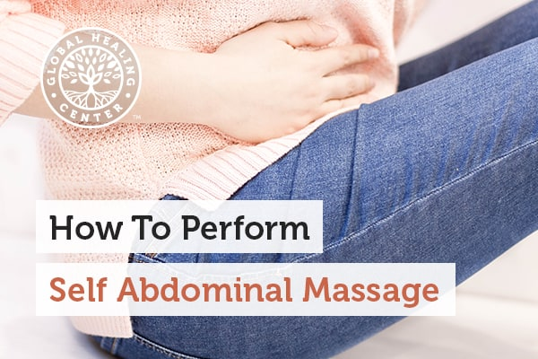 Abdominal massage can help stimulate the muscles and organs.