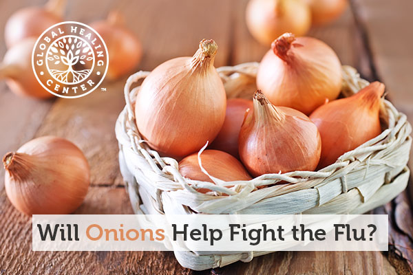 A bucket of onions. Onions can help fight the flu and cold.