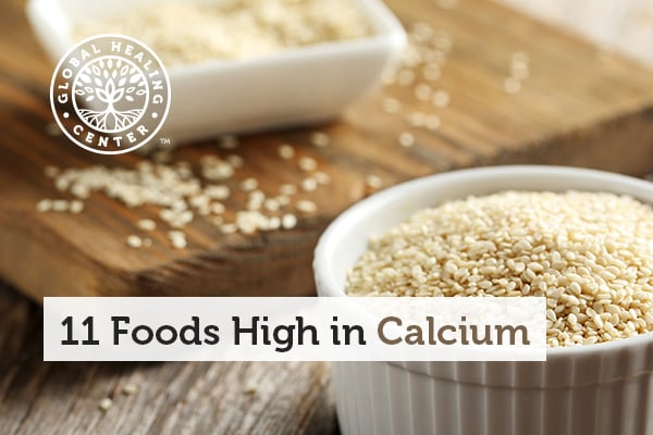 Sesame Seeds are one of many foods that are high in calcium.