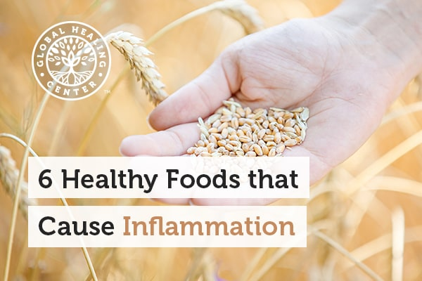 Wheat is one of many healthy foods that can cause inflammation.