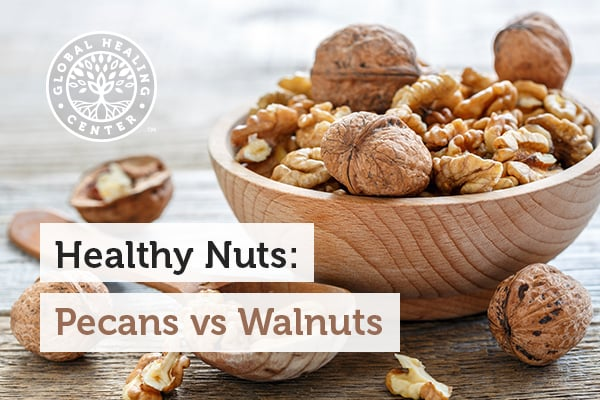 Pecans and walnuts are considered healthy nuts.