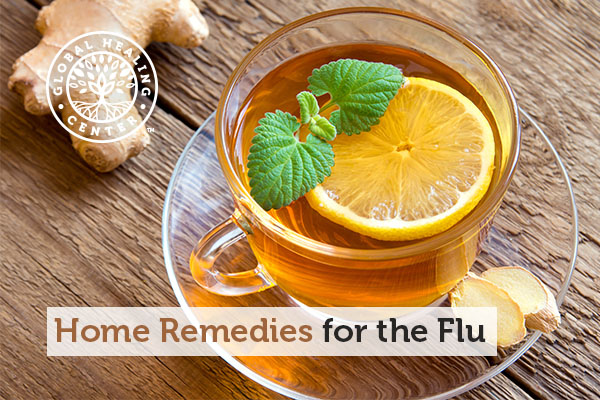 Lemon tea is one of the home remedies for the flu.