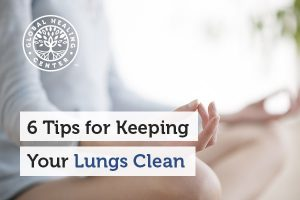 Exercise helps with keeping your lungs clean.