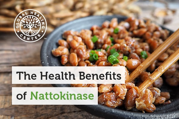 A bowl of natto. Nattokinase was extracted from natto.