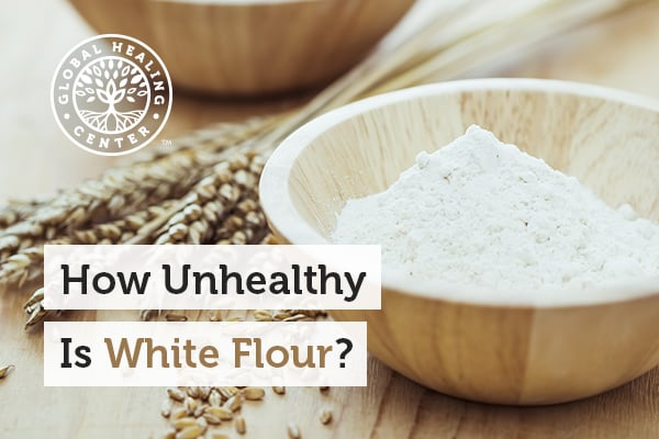 White flour can lead to obesity.