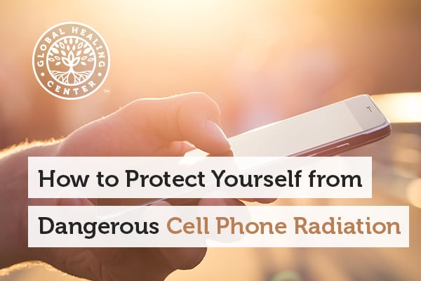 A person is holding a cell phone. SYB pocket patch can help protect you against dangerous cell phone radiation.