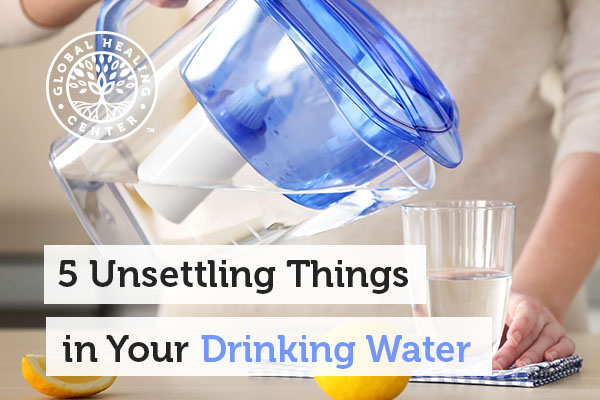 A person is pouring water. Pesticides and arsenic can be found in our drinking water.