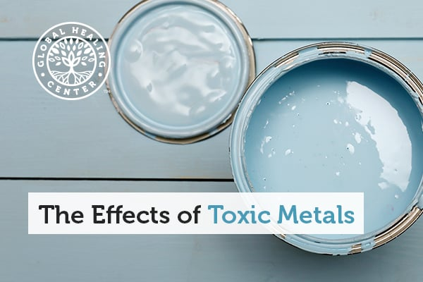 Aluminum paint can. Severe muscular spasms are one of the effects of toxic metals.