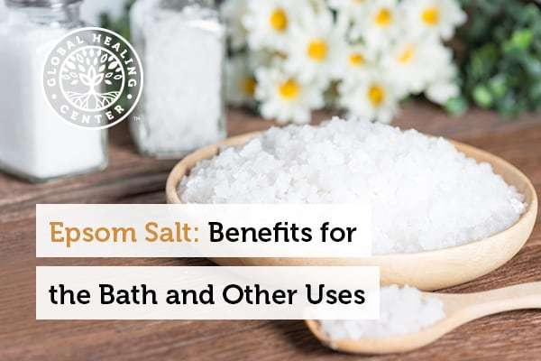 Epsom salt is a natural mineral made of magnesium and sulfate.