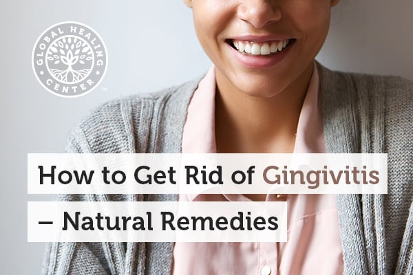 A person is smiling. Salt water and sage are great natural remedies to get rid of gingivitis.