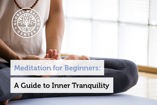 Meditation for beginners. An image of a person meditating.