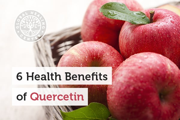 Bucket of apples. Quercetin helps support cardiovascular and respiratory health.