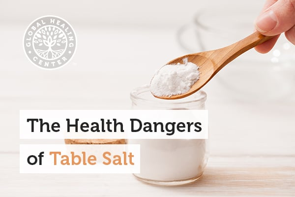 High blood pressure is one of the health danger of table salt.