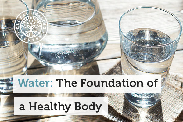 A glass of water. Water helps with energy level and overall wellness.