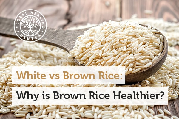 Brown rice helps promote weight loss and also rich in selenium vs. white rice.