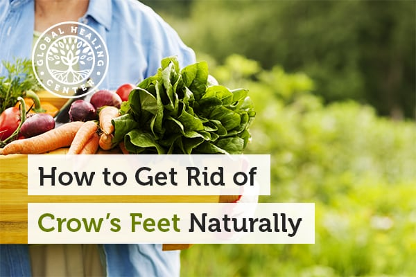 Simply habits like eating organic fruits and vegetables can help reduce the appearance of Crow&'s feet.