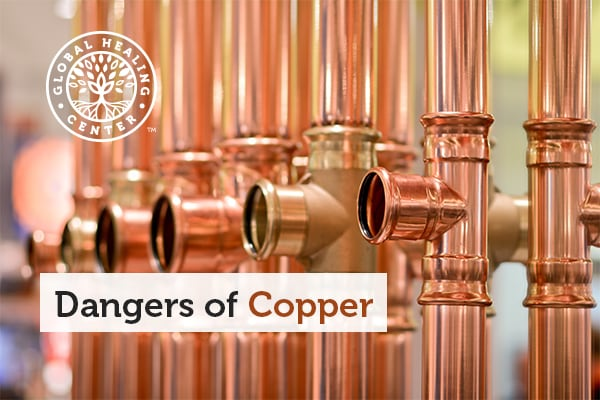 A copper pipe. Liver and kidney damage are one of several dangers of copper.