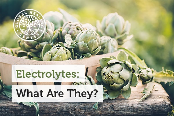 Electrolytes can be found in foods such as artichokes and carrots.