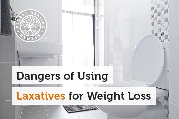 A clean bathroom. Using laxatives for weight loss can lead to dehydration and electrolyte disturbances.