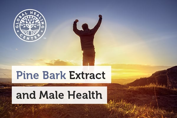 A man is jumping. Pine bark extract may help with male infertility.