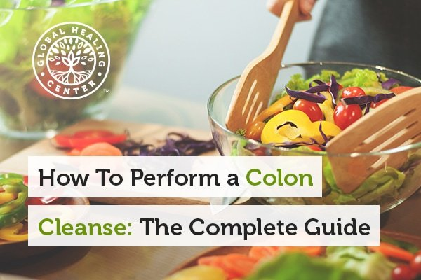 Eating healthy, organic fruits and vegetables can help support a colon cleanse.