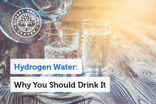 A glass of hydrogen water.