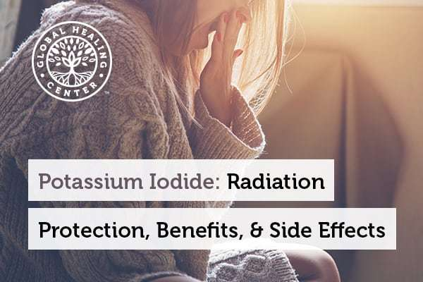 A tired woman. Potassium iodide acts as a potent remedy for radiation exposure.